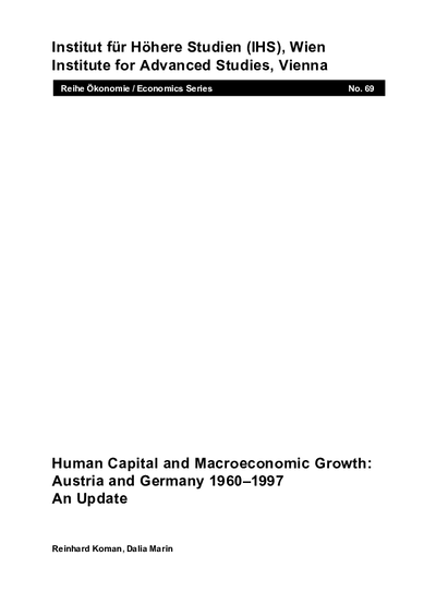 Human Capital and Macroeconomic Growth: Austria and Germany 1960-1997 - An Update