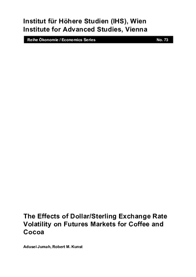 The Effects of Dollar/Sterling Exchange Rate Volatility on Futures Markets for Coffee and Cocoa