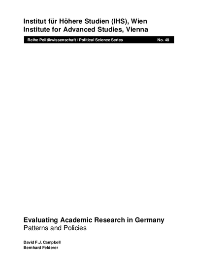 Evaluating Academic Research in Germany