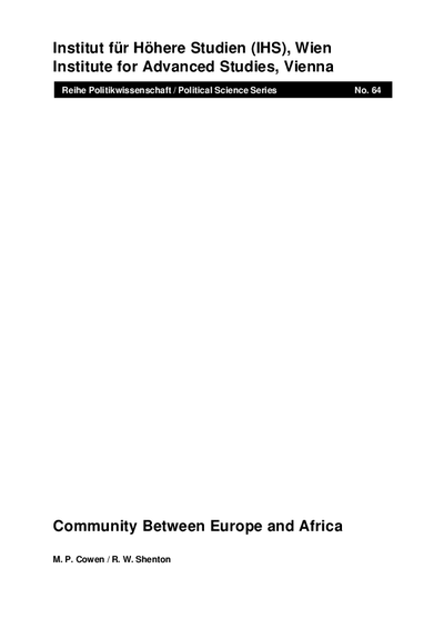 Community Between Europe and Africa