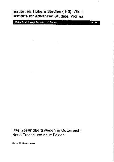 Das Gesundheitswesen in Österreich
