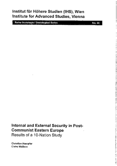 Internal and External Security in Post-Communist Eastern Europe
