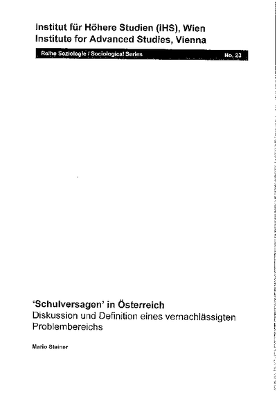 'Schulversagen' in Österreich