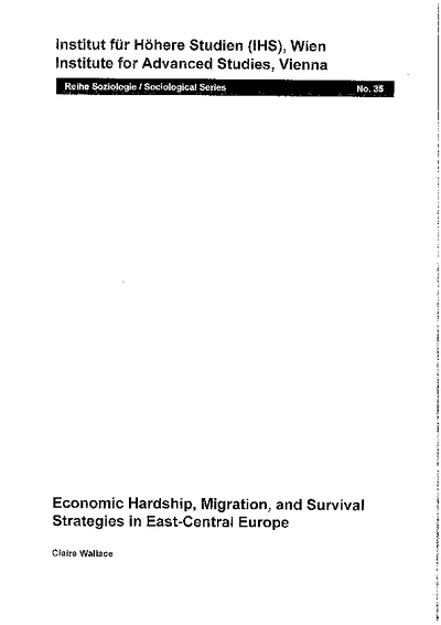 Economic Hardship, Migration, and Survival Strategies in East-Central Europe