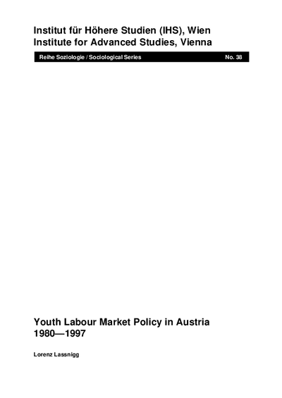 Youth Labour Market Policy in Austria 1980-1997