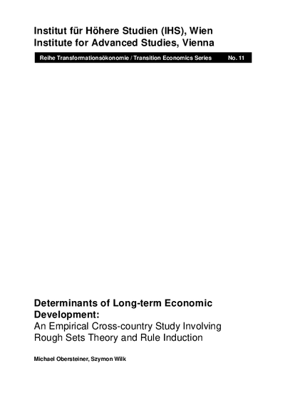 Determinants of Long-term Economic Development: An Empirical Cross-country Study Involving Rough Sets Theory and Rule Induction