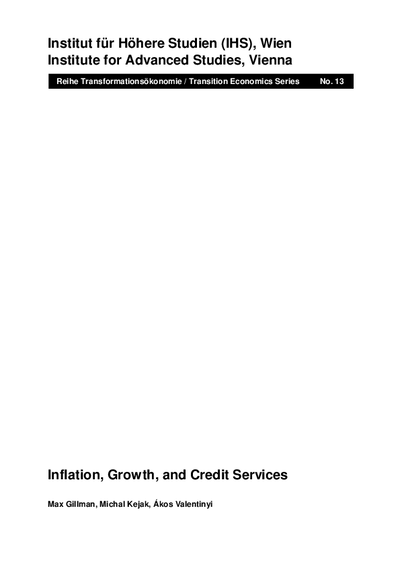 Inflation, Growth, and Credit Services