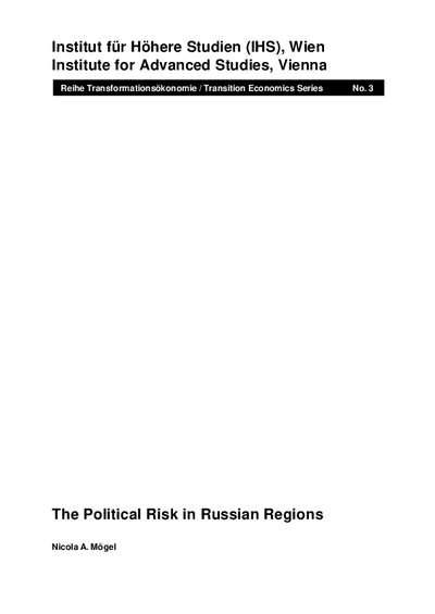 The Political Risk in Russian Regions