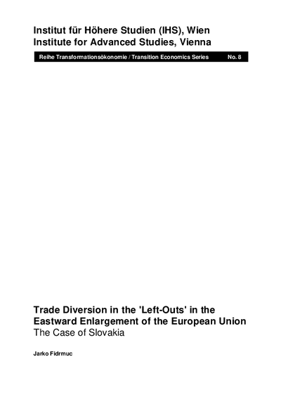 Trade Diversion in the 'Left-Outs' in the Eastward Enlargement of the European Union