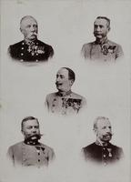 Portrait von fünf Generälen