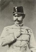 Offizier der k.u.k. Armee in Husarenuniform