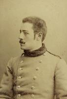 Junger Mann in Offiziersuniform der k.u.k. Armee