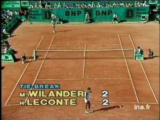 Quart de finale à Roland Garros : Leconte contre Wilander premier tie break