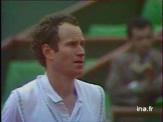 Huitième de finale à Roland Garros : 2ème tie break entre Mac Enroe et Lendl