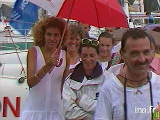 La Route du Rhum : arrivée de Florence Arthaud