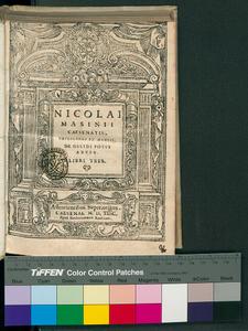 Nicolai Masinii ... De gelidi potus abusu. Libri tres