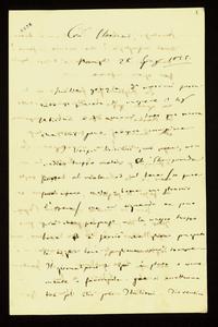 Lettera ; firma autografa ; Incipit: Mille grazie d'avermi procurato il piacere di conoscere il sig Labicini… ; Giuseppe Verdi ringrazia la Maffei per aver avu