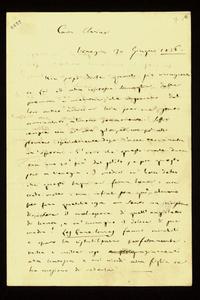 Lettera ; firma autografa ; Incipit: Non posso dirle quanto sia riconoscente a Lei e alla contessa Somaglia… ; Giuseppe Verdi si dice riconoscente nei confront