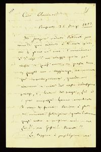 Lettera ; firma autografa ; Incipit: Ho sempre creduto Puttinati per uomo di gran talento e di molto spirito… ; Giuseppe Verdi scrive a Clara Maffei della visi