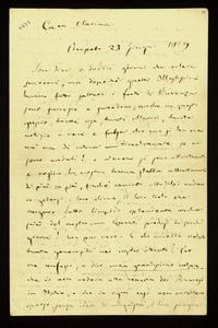Lettera ; firma autografa ; Incipit: Son dieci o dodici giorni che voleva scrivervi, ma dopo che quelli Illustrissimi hanno fatto saltare i forti di Piacenza…
