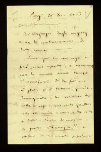 Lettera ; firma autografa ; Incipit: Vi ringrazio degli augurj e ve li contraccambio di tutto cuore… ; Giuseppe Verdi scrive della sua vita parigina e delle ra