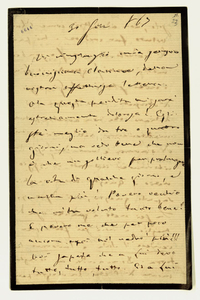 Lettera ; firma autografa ; Incipit: Vi ringrazio mia sempre buonissima Clarina, della vostra affettuosa lettera… ; Giuseppe Verdi ringrazia la contessa per la