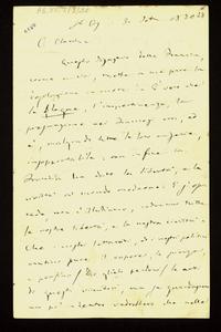 Lettera ; originale, firma autografa. ; Incipit: Questo disastro della Francia, come a voi, mette a me pure la desolazione in cuore… ; Giuseppe Verdi manifest