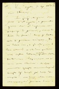 Lettera ; firma autografa ; Incipit: Sono quasi otto giorni che sono a S. Agata, e sono otto giorni che ad ogni ora mi propongo di scrivervi… ; Giuseppe Verdi