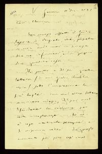 Lettera ; firma autografa ; Incipit: Non conosco affatto il Giulio Cesare di Busseto, ché, sapete io non vado mai in paese me ne informerò… ; Giuseppe Verdi in