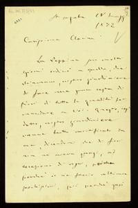 Lettera ; firma autografa ; Incipit: La Peppina son molti giorni ordinò a quello, che chiamano, nostro giardiniere di fare una gran cesta… ; Giuseppe Verdi scr