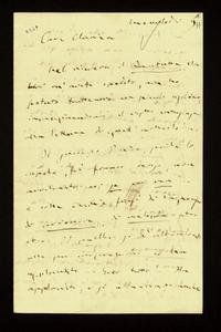Lettera ; firma autografa ; Incipit: Nel ricevere Il Fanfulla, che m'avete spedito, non ho potuto trattenere un piccolo risolino… ; Giuseppe Verdi riceve da pa