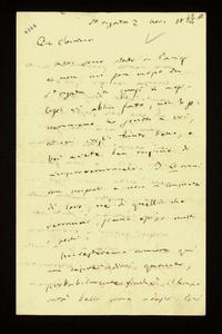 Lettera ; firma autografa ; Incipit: Non sono stato a Parigi e non mi son mosso da St. Agata da quasi 4 mesi… ; Giuseppe Verdi scrive alla Maffei che nonostant