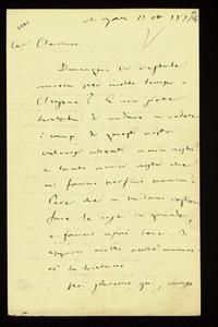 Lettera ; firma autografa ; Incipit: Dunque voi restate ancora per molto tempo a Clusone?… ; Giuseppe Verdi scrive da St. Agata alla Maffei, che si trova a Clu