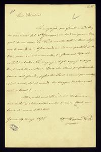 Lettera ; firma autografa ; Incipit: Ti ringrazio, per esserti ricordata, in occasione del S. Giuseppe, anche d'un povero zero, qual' io mi sono… ; Giuseppina