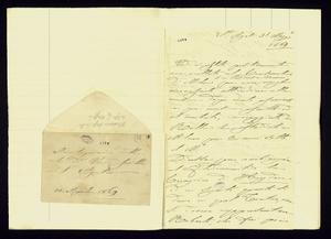Lettera ; con busta, firma autografa ; Incipit: Verdi è stato positivamente non accettato al Conservatorio di Milano… ; Clara Maffei scrive alcune note biograf