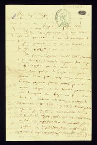 Lettera ; firma autografa ; Incipit: Mi vien detto (ma non è certo) che la città abbia preso in tutta la città alcune stanze al prezzo di sei carlini… ; Il gio