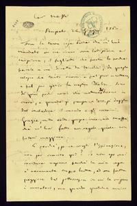 Lettera ; firma autografa ; Incipit: Fra le tante cose belle che m'hai mandato or ne ricevo una bellissima e carissima… ; Giuseppe Verdi è felice perché tramit