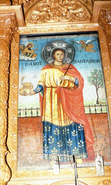 Ιερά εικόνα Αγίου Παντελεήμονος