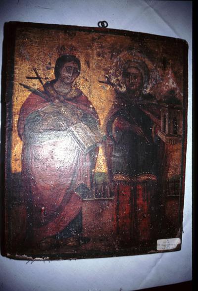 Ιερά εικόνα Αγίας Αικατερίνης και Βαρβάρας