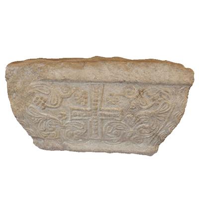 Semi-pillar's capital Artistic Artifact 754 - 3D