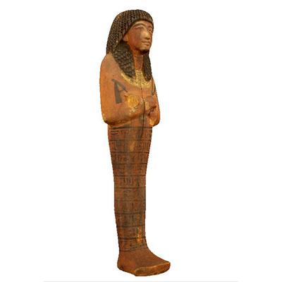 Wood Ushabty Artistic Artifact E 0.9.40160 - 3D