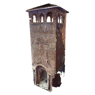 Archaeological Museum of Milano  - Circus tower - 3D