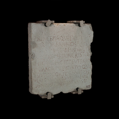 Inscription of Princepia and Deuteria Archaeological Artifact Seletti - 273 - Image