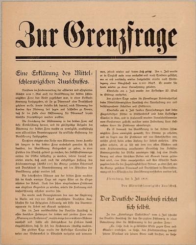 Zur Grenzfrage : Eine Erklärung des Mittelschleswigschen Ausschusses