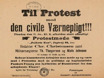 Til Protest mod den civile Værnepligt