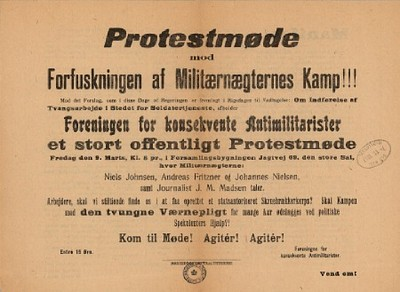Protestmøde mod Forfuskningen af Militærnægternes Kamp
