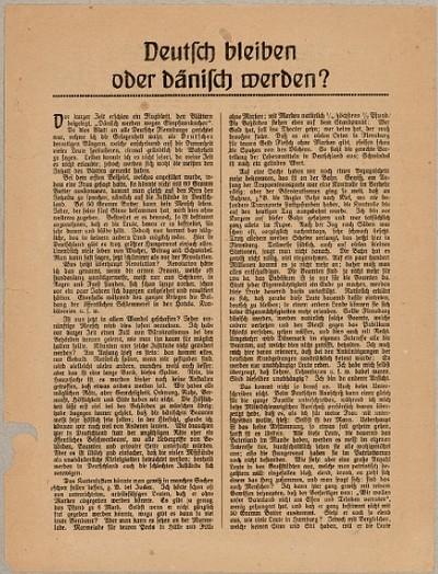 Deutsch bleiben oder dänisch werden?