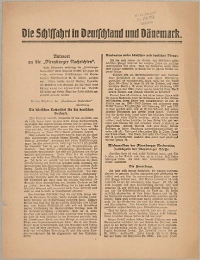 Die Schiffahrt in Deutschland und Dänemark