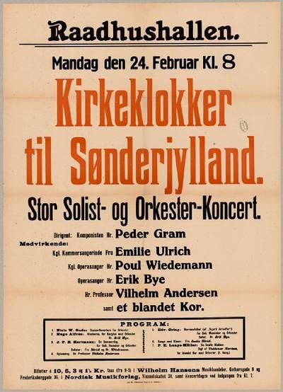 Kirkeklokker til Sønderjylland : Stor Solist- og Orkester-Koncert