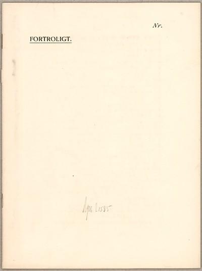 Til Den overordentlige Kommission af 8. August 1914, Fragtudvalget : De Spørgsmaal, der blev ...